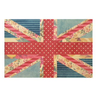 Vintage Shabby Chic | Union Jack Wood Wall Art