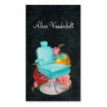 Vintage Shabby Damask Salon Chair Stylist Card Double-Sided Standard Business Cards (Pack Of 100)