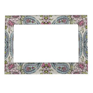 Vintage Shabby Floral Picture Frame Magnet