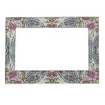 Vintage Shabby Floral Picture Frame Magnets