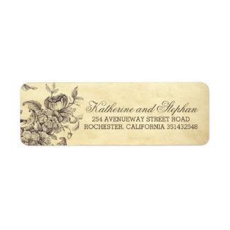 Vintage Shabby Flourishes Wedding Label