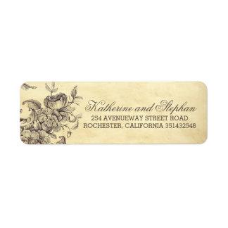 Vintage Shabby Flourishes Wedding Label