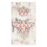 Vintage Shabby Queen Bee Business Cards