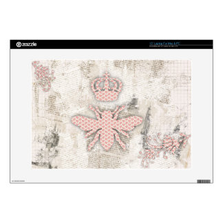 """Vintage Shabby Queen Bee Skin Decal For 15"""" Laptop"""
