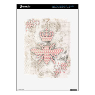 Vintage Shabby Queen Bee Skin Decal For iPad 3