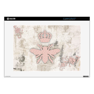 Vintage Shabby Queen Bee Skin Skin For Laptop