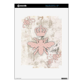 Vintage Shabby Queen Bee Skin Skins For The iPad 2