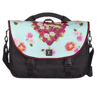 Vintage Shabby Roses Heart Computer Bag