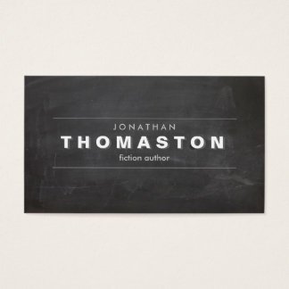 VINTAGE SHADOW TYPE on Chalkboard Business Card