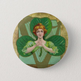 Vintage Shamrock Button