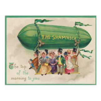 Vintage Shamrock Float St Patrick's Day Card