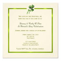 Vintage Shamrock St. Patrick's Day Invitation