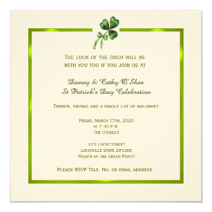 vintage st patrick day invitations zazzle