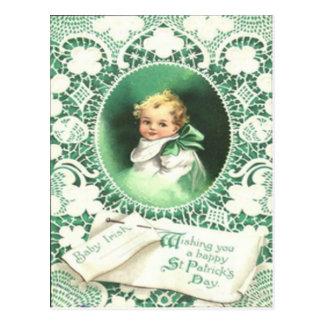 Vintage Shamrocks Emerald Isle St Patrick's Day Ca Postcard