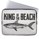 Vintage Shark Beach King Laptop Sleeves