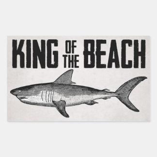 Vintage Shark Beach King Rectangular Sticker