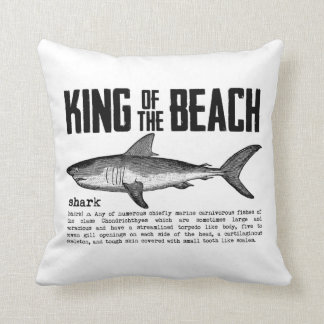 Vintage Shark Beach King Throw Pillow