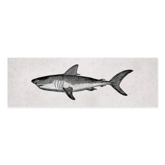 Vintage Shark Business Card