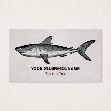 Beach Themed Vintage Shark Business or Personal Calling Card