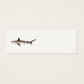 Vintage Shark Illustration - Retro Sharks Template Mini Business Card