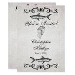 Vintage Shark ~ Jellyfish Wedding Reception Invite