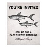 Vintage Shark Ocean Baby Shower Invitation