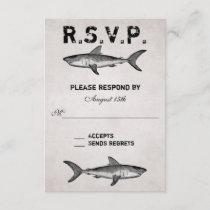 Vintage Shark ~ Ocean Beach Wedding RSVP