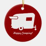 Vintage Shasta Camper Christmas Ornament