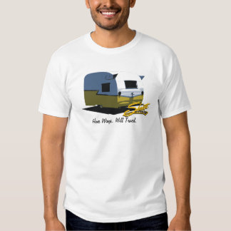 Vintage Shasta Camper Travel Trailer Yellow T Shirt
