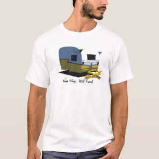 Vintage Shasta Camper Travel Trailer Yellow T-Shirt