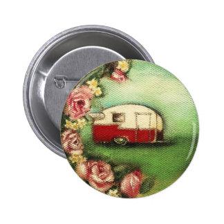 Vintage Shasta Pin Redondo 5 Cm