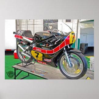 Vintage Sheene Racebike Póster