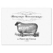 Vintage Sheep Ad Tissue Tissue Paper