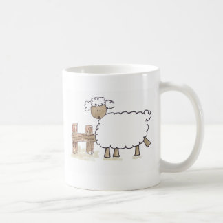 Vintage Sheep by Serena Bowman funny farm animals Coffee Mug