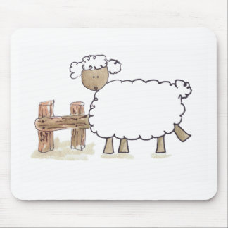 Vintage Sheep by Serena Bowman funny farm animals Mouse Pad