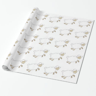 Vintage Sheep by Serena Bowman funny farm animals Wrapping Paper