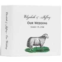 Vintage Sheep Ewe Farm Animals Drawing C 3 Ring Binder