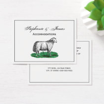 Vintage Sheep Ewe Farm Animals Drawing C Business Card