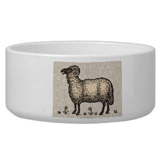Vintage Sheep Farm Animal Illustration Bowl