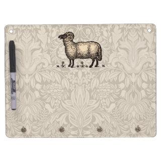 Vintage Sheep Farm Animal Illustration Dry-Erase Board