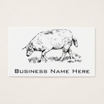 Vintage Sheep In Grass Business Card