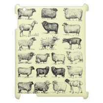 Vintage Sheep iPad Cover