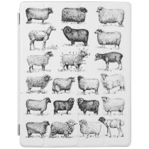 Vintage Sheep iPad Smart Cover