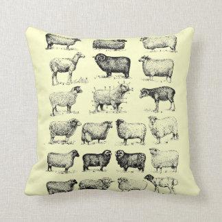 Vintage Sheep Throw Pillow