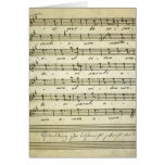 Vintage Sheet Music, Antique Musical Score 1810 Card