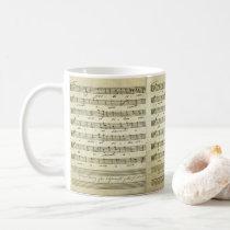 Vintage Sheet Music, Antique Musical Score 1810 Coffee Mug
