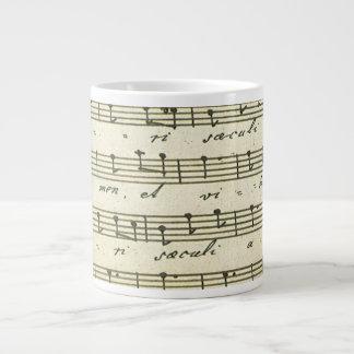 Vintage Sheet Music, Antique Musical Score 1810 Giant Coffee Mug