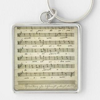 Vintage Sheet Music, Antique Musical Score 1810 Key Chains