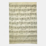 Vintage Sheet Music, Antique Musical Score 1810 Hand Towels