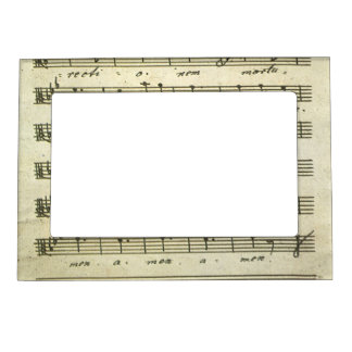 Vintage Sheet Music, Antique Musical Score 1810 Magnetic Photo Frame